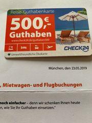 Reisegutschein 500 -EUR