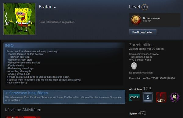 Steam account  450+ » PC-Spiele