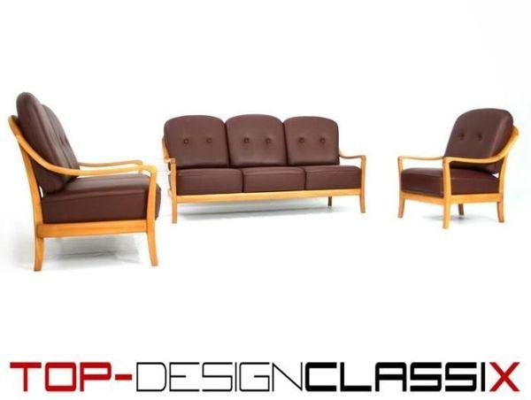 Wie Neu 1970s Komfort Denmark Lounge Sofa Chair Sessel Leder