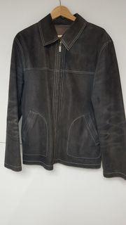 Herren Lederjacke Jacke von beiden