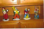 4 Glasfiguren - Böhmische Musikanten