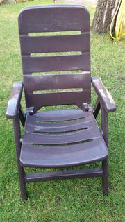 Gartenstühle 6 Stück mit verstellbarer