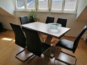 Tisch mit 6 Stühlen Neuwertig