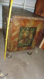 antike rustikale Kommode zweischübig original