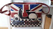 Umhängetasche Schultertasche Tasche British Invasion