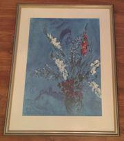 Kunstdruck Marc Chagall Gladiolen hochwertig