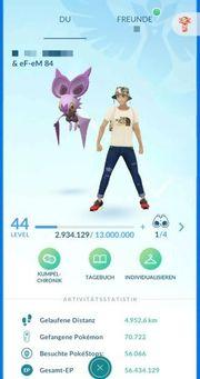 Pokemon Go Lvl 44 Blau