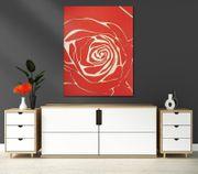 Riesige Rose Wandbild aus Holz