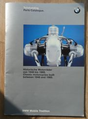 Original BMW Teilekatalog Historische Motorräder