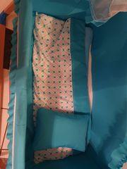 Babybett Wippbett in blau