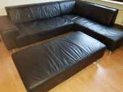 Reserviert Echtes Leder-Sofa zu verkaufen