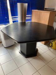 Schwarze Möbel Esszimmertische Vitrine Highboard