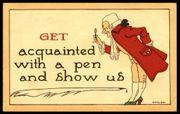Antike Postkarte USA mit George