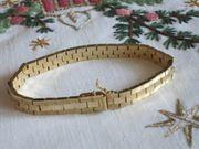 Gliederarmband mit Goldauflage