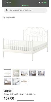 IKEA Leirvik Bett mit Lattenrost
