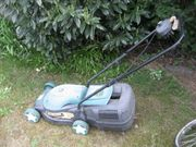elektrischer Rasenmäher mit Fangkorb Black