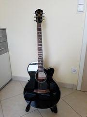 Ibanez Akustik E-Gitarre AEG8E-BK inkl