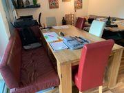 Tisch Ledercouch Stühle