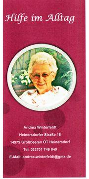 Hilfe für Senioren im Alltag