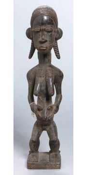 Originale Afrikanische Ahnenfigur Elfenbeinküste Volk