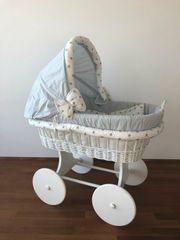 WALDIN Baby Stubenwagen-Set mit Ausstattung XXL