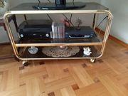 HiFi-Turm Messing Phonowagen mit Rollen