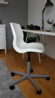 Ikea-Bürostuhl weiß wie neu
