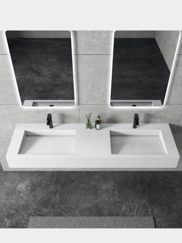 NEUES Doppelwaschbecken