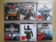 6x PS3 Spiele ACTION
