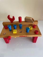 Vintage Werkbank Holz Playskool