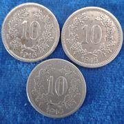 3 x 10 Heller Österreich
