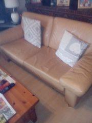 Leder Couchgarnitur