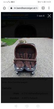 Zwililigskinderwagen mit 2 Babyschalen
