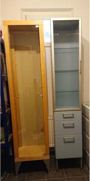 IKEA Vitrine Holz und Glas
