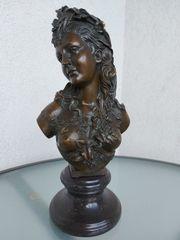 Jugendstil Frauenbüste Bronze signiert FESTPREIS