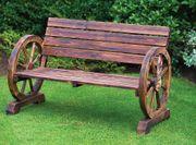 Gartenbank Sitzbank lackiert Gartenmöbel rustikal