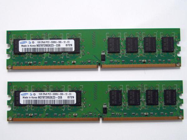 2 GByte Paar Samsung DDR2