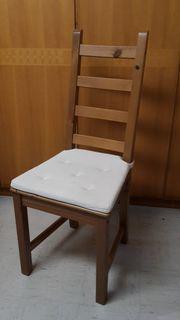 Ikea Küchenstuhl Eiche mit Sitzkissen