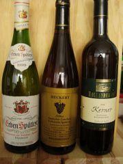 Verkaufe 9 Weinflaschen von 1999-2004