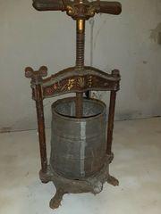 Antike Wein Presse Traubenpresse