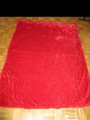 Plüschdecke Kuscheldecke rot Maße 160