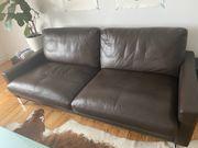 Leder Sofa 2 5-Sitzer Dunkelbraun