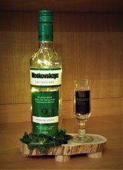 Flaschenlampe Upcycling Moskovskaya Vodka