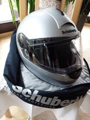 Motorradhelm Schuberth C3 Klapphelm silber