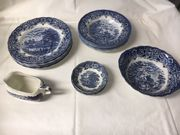 Grindley Staffordshire Geschirr Homeland blau
