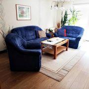 hochwertige dreiteilige Couchgarnitur mit Schlaffunktion