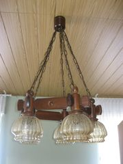 alte rustikale Hängelampe Deckenleuchte