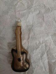 Gitarre aus Glas Weihnachtsbaumschmuck Neu