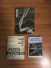 3 Vintage Fotografik Bücher aus
