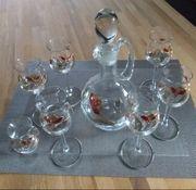 Likörset Karaffe 6 Gläser 1